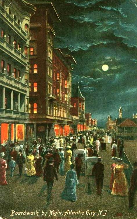 Atlantic city nght boardwalk 1908
