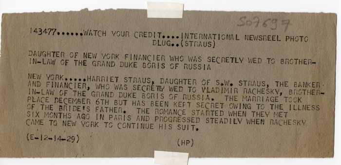 Harriet Straus:Rachevsky text small