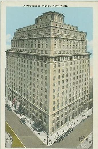 Ambassador hotel ny postcard blog