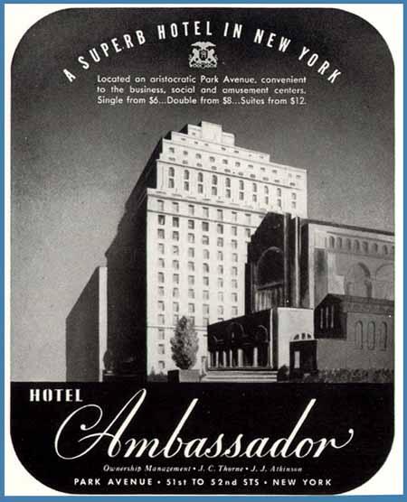 Ambassador hotel ad 1941 blog