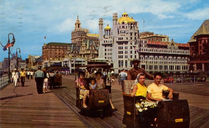 Atlantic city rolling cars  1961