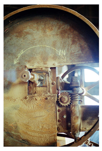 In:out, liza cowan photograph, shipyard archeology, old machine, greenport ny, ruins,