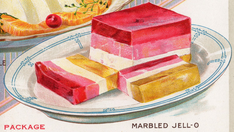 Marbled jello