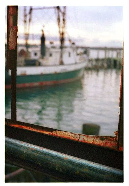 View to miss N, liza cowan photograph, greenport NY, ship, old window, harbor