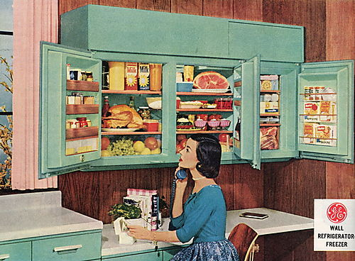 Fridge GE wall 1948 blog