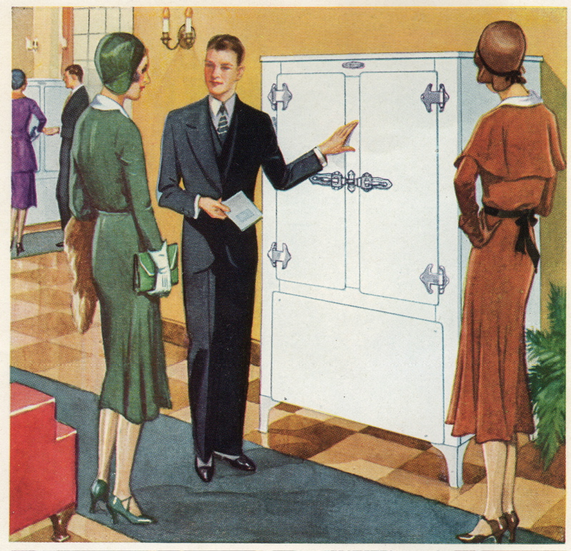 Frigidaire 1931 booklet women and salesman