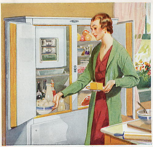 Frigidaire large butter in fridge