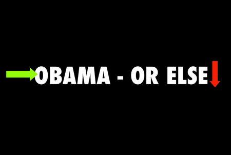 Obama postcard, obama or else, presidential election art, presidential election ephemera, presidential election propaganda, obama in art