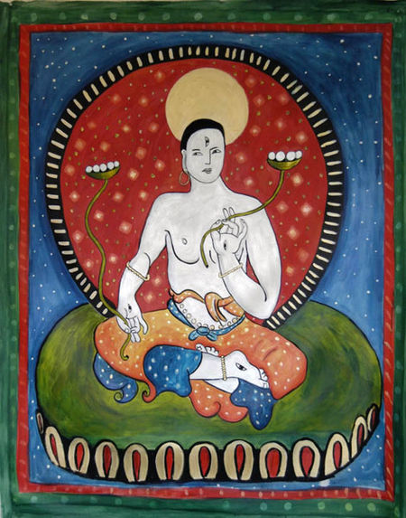 Tibetan buddhist white tara, tibetan buddhist symbol, painting of white tara, interpretation of tibetan buddhist tara