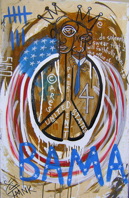 Obama art, barack obama, president obaba, art about obama, art about presidential inauguration, inaugural art, TMNK, urban art about obama,