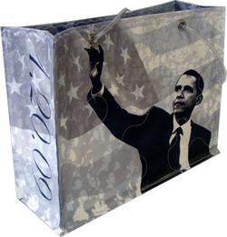 Obama inaugural bag b:w