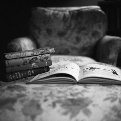 Aline smithson - book on chair