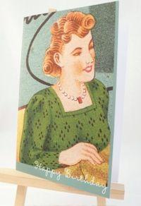 Paw card broadway needle detail happy birthday