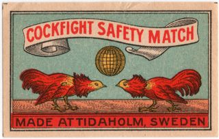 Matchbox swedishcockfight blue