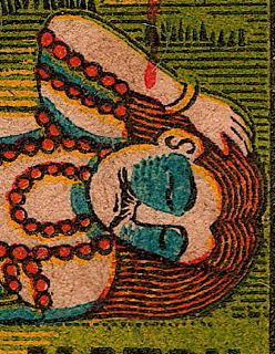 Matchbox label, kali, india, calcutta