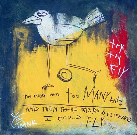 TMNK, The Me Nobody Knows, Bird, street artist, african american artist, new york city artist,