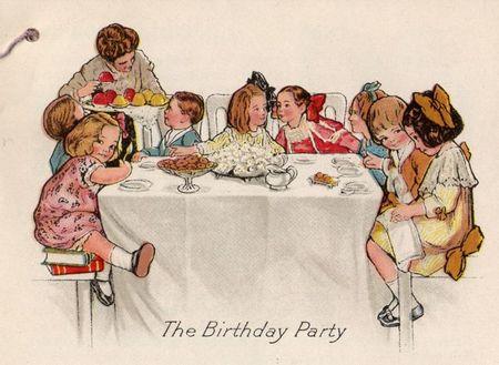 Jello, rose o'neill, jello, children's party, happy birthday, old fashioned birthday,