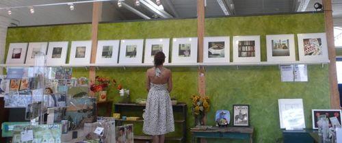 Aline Smithson exhibit, pine street art works, photo liza cowan