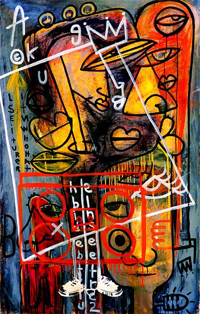 TMNK, The Me Nobody Knows, graffiti, street art, contemprary art, My Boombox,