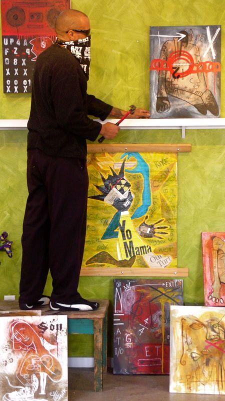 TMNK the me nobody knows, pine street art works, photo liza cowan, art hop, burlington, Vermont