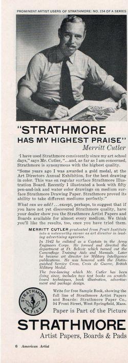 merritt cutler, strathmore ad, magazine illustration, illustrator advertising