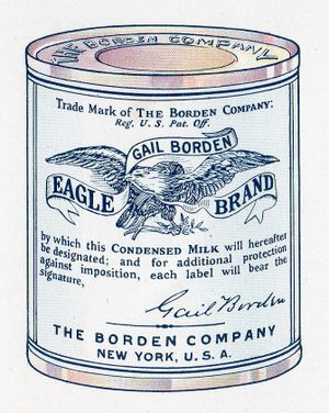 gail borden eagle brand milk label early