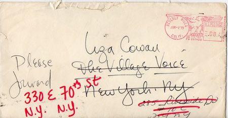 lily tomlin handwritten envelope
