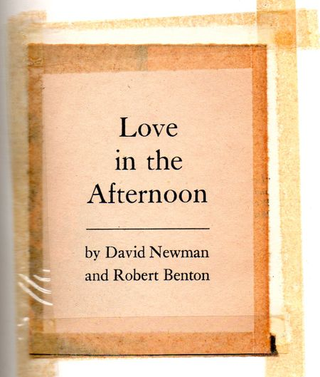 soupy sales, love in the afternoon, David Newman, Robert Benton, children's televsion 1960's, New York Live Television
