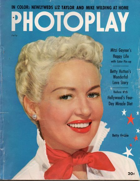 Betty Grable, July 1952, Photoplay Magazine