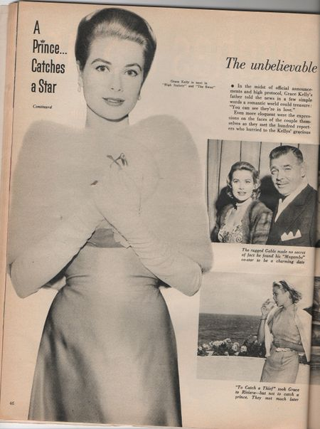 Grace kelly, a prince catches a star 1956 photoplay magazine
