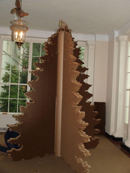 """white house wish tree"" ""white house cardboard Christmas tree"" ""cardboardesign"""
