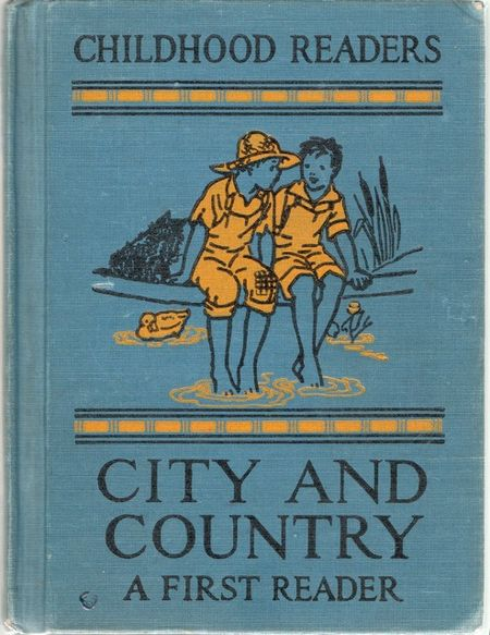 City and country, first reader, boys feet in water, childhood readers, florence margaret hoopes, margaret freeman