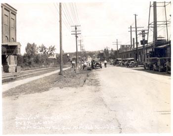 Pine street burlington june 13, Louis L. McAllister photo, UVM historical photo collections