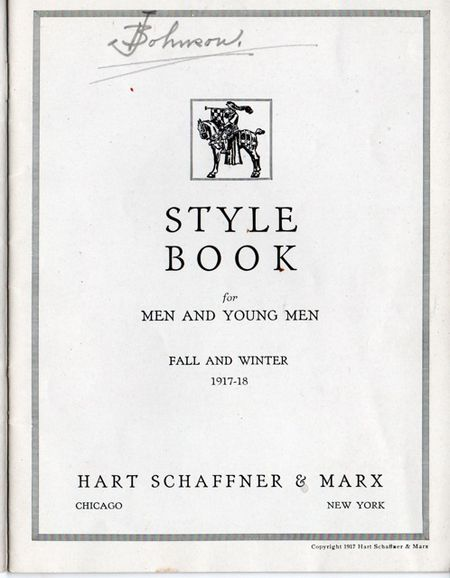 Hart shaffner & Marx style book for men and young men fall and winter 1917-1918