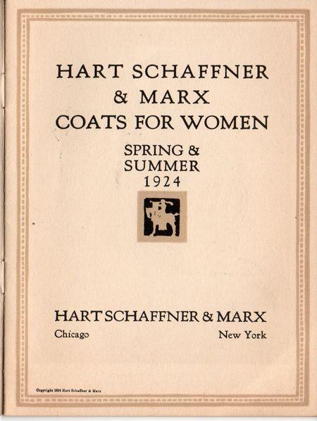 Hart Schaffner & Marx, coats for women 1925, illustration