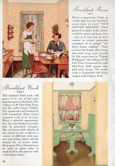 Sherwin williams, 1934, Breakfast room, breakfast nook