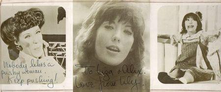 Lily Tomlin, signed photo, Liza Cowan, Alix dobkin