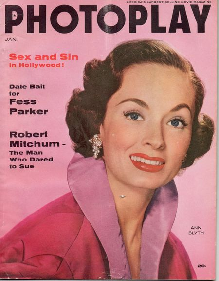 Ann Blyth, Jan 1956 Photoplay Magazine