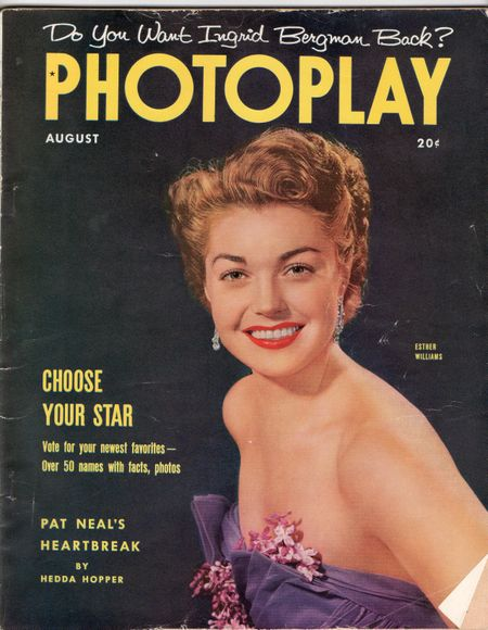 Esther Williams, August1952, photoplay magazine