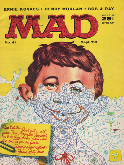 Paint by number mad magazine sept 1958