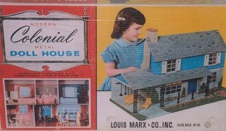 Marx Colonial metal doll house box