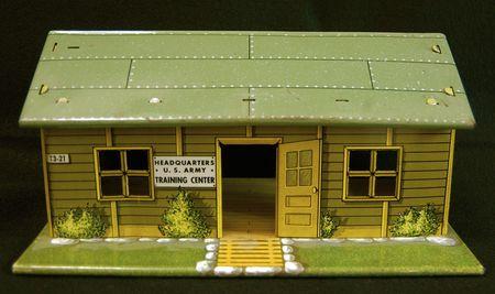 Marx tin toy, US Army Headquarters Training Center, photo Liza Cowan