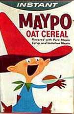 Maypo cereal box, markey maypo, i want my maypo, pine street art works