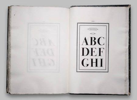 Gianbattista Bodoni, typeface, alphabet