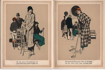 Hart schaffner marx, coats for women, at the races Longchamps, on board the maretania, shuffleboard