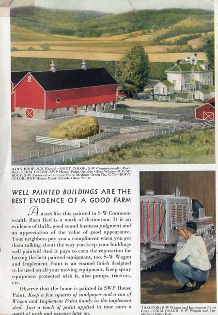 Sherwin williams 1924, well painted homes are the best evidence of a good farm