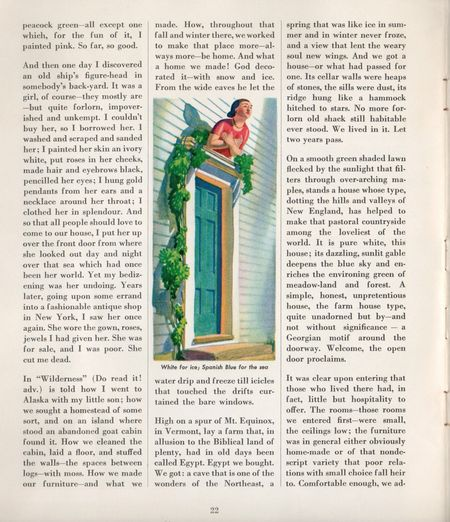 Rockwell kent, sherwin williams, 1939, home decorator and color guide, p 22, 1939 , ship masthead over doorway