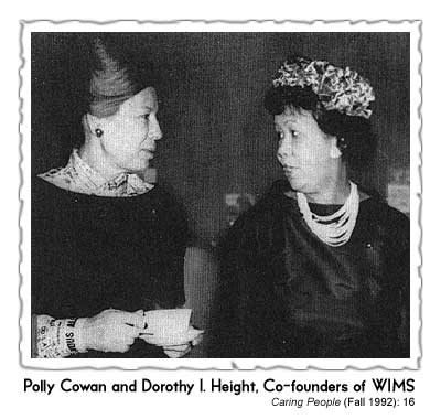 Dr. Dorothy I Height, Polly Cowan, Dorothy I Height dies April 20, 2010, Wednesdays In Mississippi, women in civil rights, civil rights as women's work