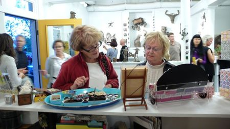 Customers at small equals. Buying tiny gift items