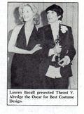 DYKE A QUARTERLY lauren bacall Theoni Aldredge 1975